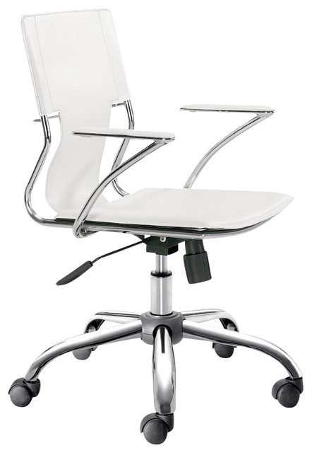 Zuo Trafico Office Chair in White (Set of 2) contemporary-task-chairs