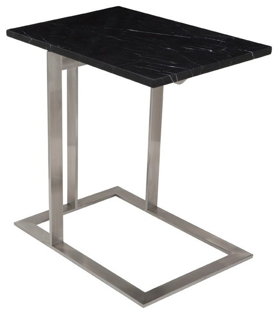 Dell Side Table in Black Marble by Nuevo - HGTA378 modern-side-tables-and-end-tables