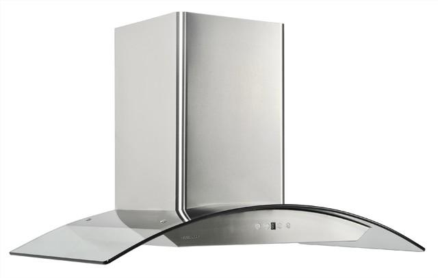 Cavaliere 36 wall mount hood modern range hoods and for Modern kitchen vent