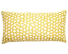 Butter-Yellow Giraffe Pillow contemporary pillows