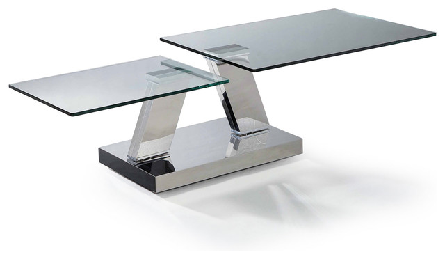 Modern Glass Swivel Top Coffee Table Loreto Modern Coffee Tables San Francisco By Furnillion