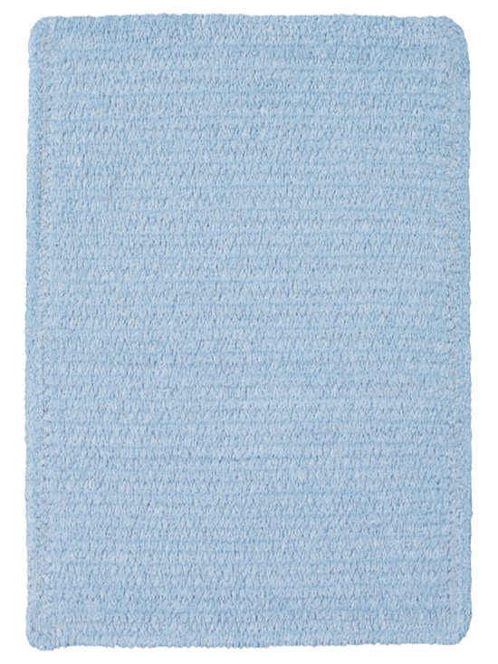 Chenille Creations rug in Light Blue - Create a comfy, cozy, and custom-made braided rug with Capel's Chenille Creations.  Strands of plush, all-natural, ultra soft cotton chenille weave together to create a soft and vibrant room accent.