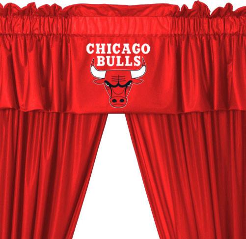 Nba Chicago Bulls Locker Room Valance And Drapes