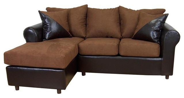 Tim 2-Pc Sectional Sofa in Mission Cinnamon F contemporary-sofas