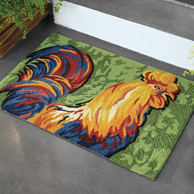 Rooster Indoor Rug Grandin Road traditional outdoor rugs