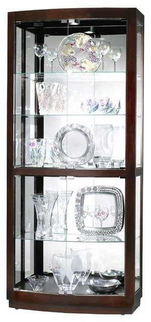 Bradington Curved Glass Door Curio Cabinet in - Contemporary - Accent Chests And Cabinets