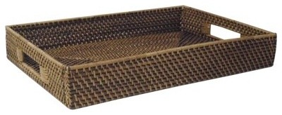 33 Point 3 TOB Rattan Rectangle Tray traditional-platters