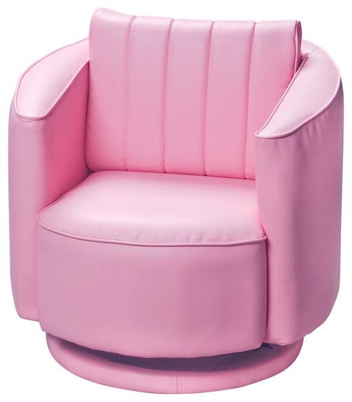 Gift mark home kids children adult upholstered swivel for Kids pink armchair