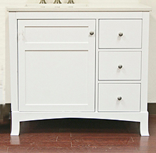 Ronbow 050536 3l F07 Neo Classic Hampton 36 Inch Vanity Cabinet With Left Side D Bathroom
