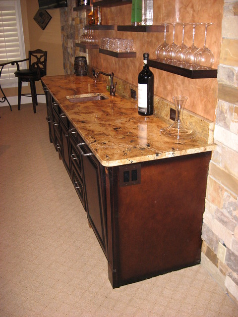 Outdoor Kitchens Houston With Faux Brick Design