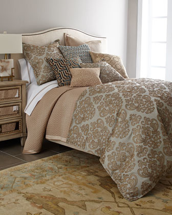 """Isabella Collection by Kathy Fielder King Damask Duvet Cover, 110"""" x 98"""" traditional-duvet-covers"""