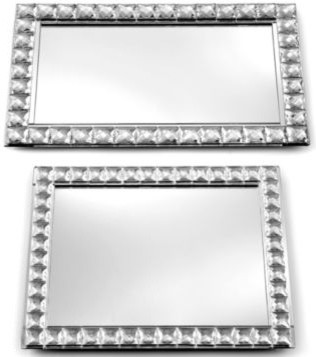 Leeber Tray, Mirrored traditional serveware