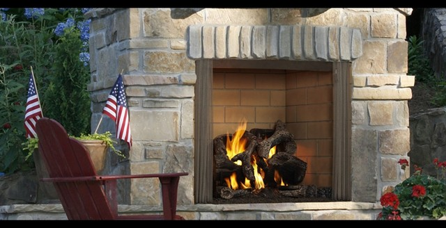 Outdoor Lifestyles Castlewood Wood Fireplace contemporary-fireplaces