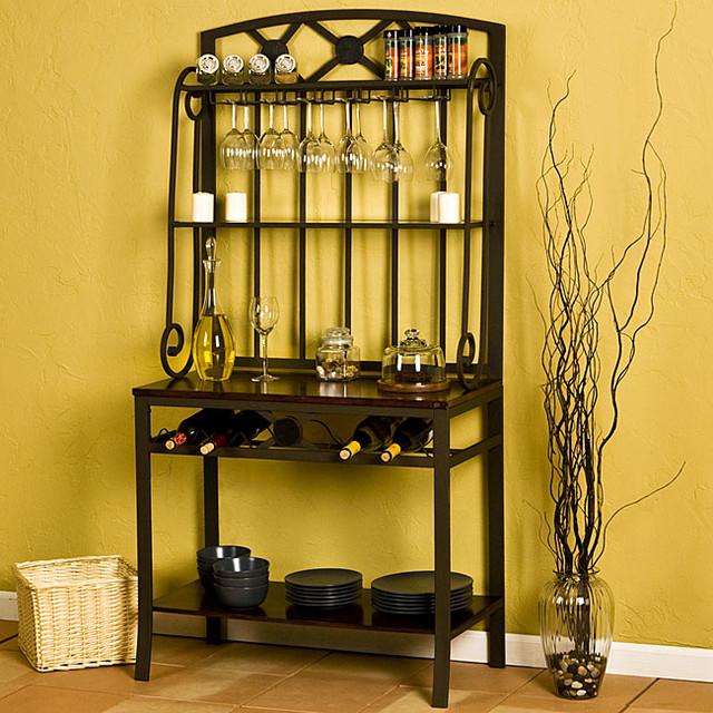 upton home decorative bakers wine storage rack