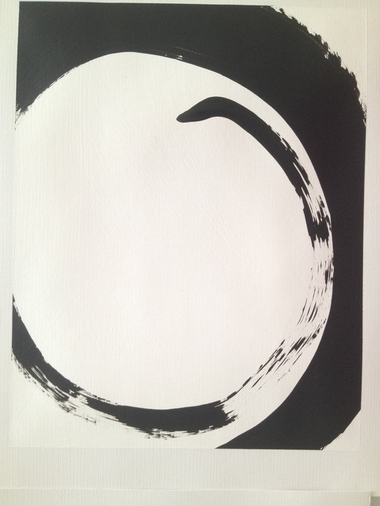 16 Zen inspired grouped paintings, black and white -