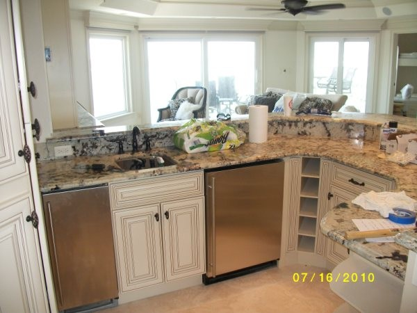 Off white with glaze traditional kitchen cabinetry for Kitchen cabinets 50 off
