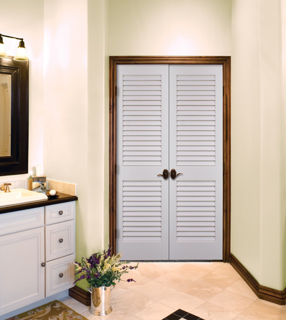 Plantation Louvered Authentic Wood Doors Interior