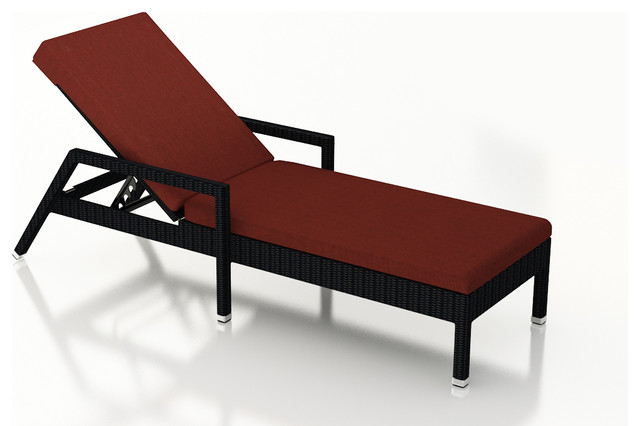 ... Reclining Chaise Lounge, Henna Cushions modern-outdoor-chaise-lounges