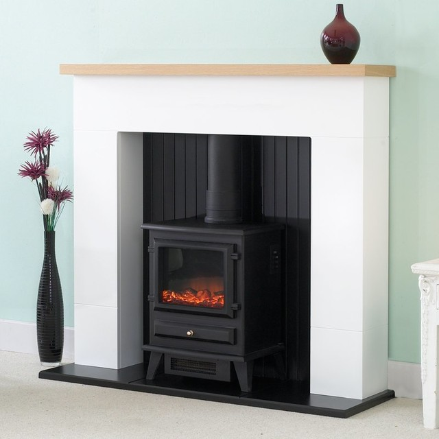Adam Innsbruck Fireplace Suite In White With Hudson