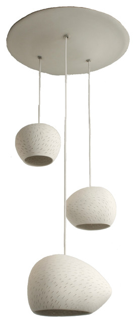 Claylight Cluster, Line Pattern modern-ceiling-lighting
