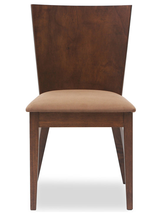 Bryght - Marva Fabric Upholstered Dining Chair - The Marva dining chair exhibits a simple yet modern design making it a welcome addition to your casual dining needs. With its balanced clean-line proportions and one piece curved back rest, the Marva dining chair is sure to please you every time you sit down for a sumptuous meal.