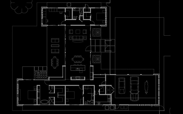 modern floor plan by Spry Architecture