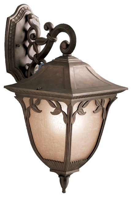 """Country - Cottage Kichler Lynnewood Garden 23"""" High Outdoor Wall Light traditional-outdoor-lighting"""