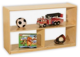 Wood Designs Versatile Shelf Storage with Acrylic Back - 30H in. modern-kids-products