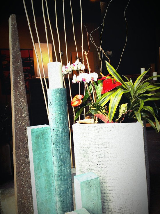 Concrete Candle Pillars -