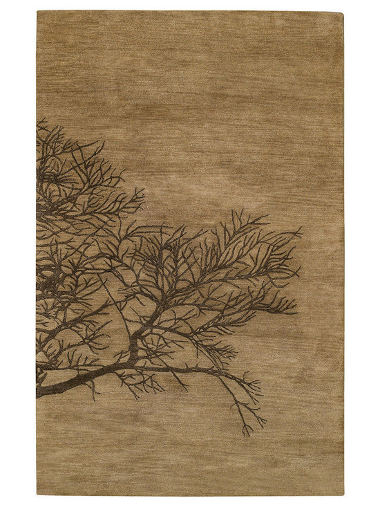 Graphique Shadow Branch rug in Bark -