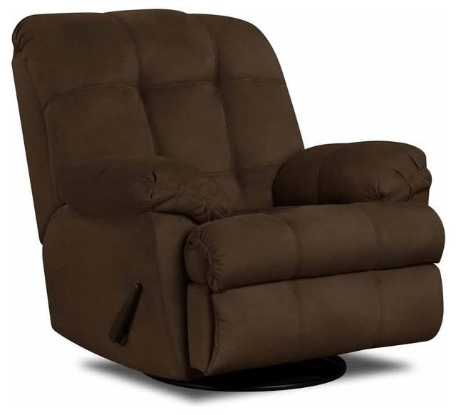 Simmons upholstery jaguar swivel glider recliner 625gm for Catnapper maverick chaise swivel glider recliner
