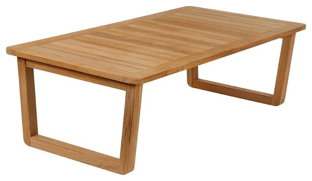 Tyrie Avon Teak Coffee Table 60 Short Modern Outdoor Dining Tables
