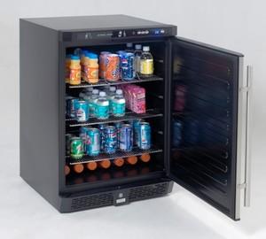 4.8 Cu. Ft. built-in refrigerator/beverage center, stainless steel door modern-refrigerators