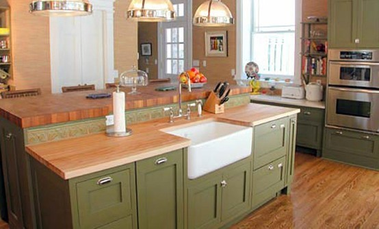 Maple Butcherblock Kitchen Countertop With Kitchen Countertops By The Grothouse