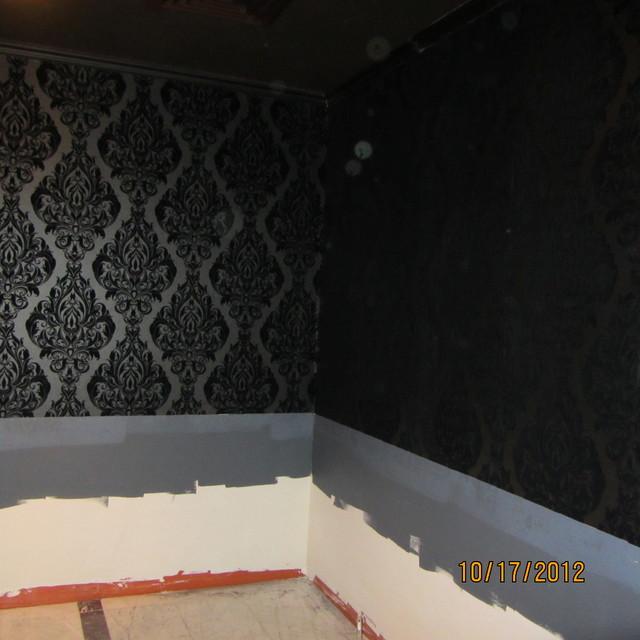 Wallpaper Black on Black Crushed Velvet - Contemporary - las vegas - by Seamingly Straight ...