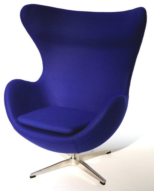 Lojo Chair Fabric Blue Contemporary Armchairs And
