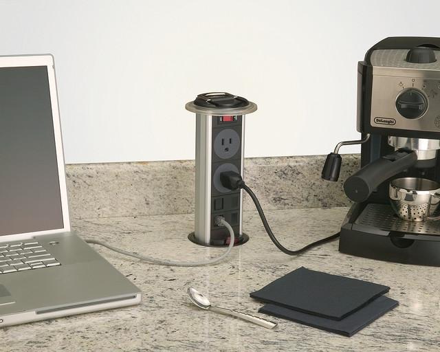 Kitchen Power Grommet - PCS34A - Modern - los angeles - by Doug Mockett & Company, Inc.