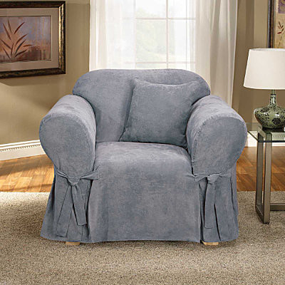 Microsuede Chair Cover contemporary-living-room-chairs