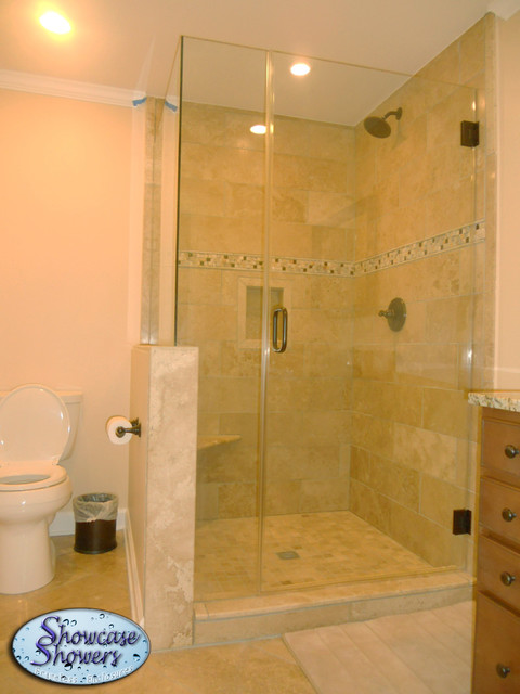Corner Showers - showers - louisville - by Showcase Showers, Inc.
