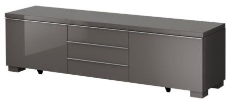 Bestå Burs TV Unit, High-Gloss Gray - Contemporary - Entertainment Centers And Tv Stands - by IKEA