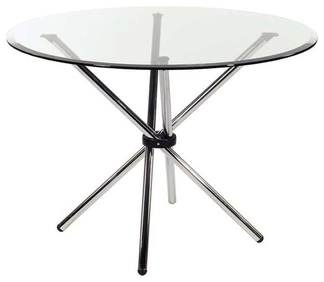 Eurostyle Hydra 42 Inch Round Glass Dining Table w  : contemporary dining tables from www.houzz.com size 640 x 558 jpeg 31kB