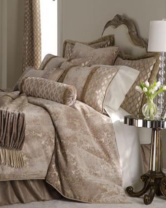 "Dian Austin Couture Home Lattice Neckroll Pillow, 8"" x 22"" traditional-decorative-pillows"