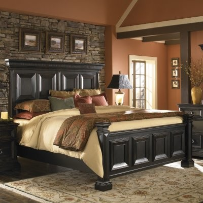 Brookfield Panel Bed modern-beds