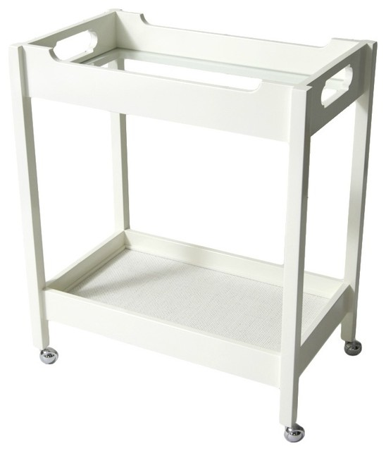 Bar Cart White Dove Contemporary Bar Carts By Oomph