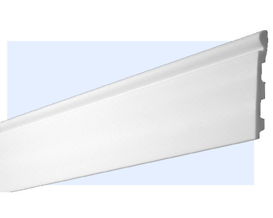 "Inviting Home - Chatham Baseboard - Chatham baseboard molding - shock resistant baseboard - 20% stronger then pine wood - baseboard molding is humidity resistant 5-7/8""H x 6/8""P x 8'00""L baseboard sold in 8 foot length 4 piece minimum order required molding specifications: Outstanding quality baseboard manufactured out of unique High Definition Polymer System (HDPS) environmentally friendly material is hypoallergenic and fully recyclable no CFC no PVC no formaldehydes - shock resistant - 20% stronger than pine wood - molding is humidity resistant - maximum long term protection against scratches and dents - this molding is ideal for high traffic areas and commercial applications such as clubhouses lobbies and exercise rooms - hypoallergenic and fully recyclable - molding is pre-primed with water-based white paint to allow perfection in painting process - molding has tough extremely smooth surface - back of the molding is fluted for better adhesion - this molding is lightweight and easy to install"