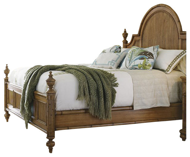 Tommy Bahama Home Beach House Belle Isle Bed in Golden Umber-King transitional-beds