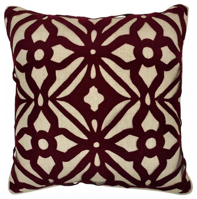 Matrix Burgandy Pillow decorative-pillows