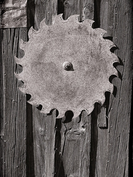 Vintage Photography - This is one of my favorite images from Bodie Ghost Town. It is simple, yet full of texture and shape. Also there is the contrast of the hard metal and the soft wood. Here it is in my vintage old style photo look.
