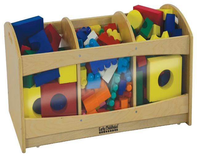 Ecr4Kids See Through Storage Boxes Brich modern-toy-storage
