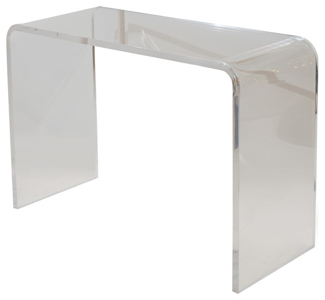 Lucite Waterfall Console